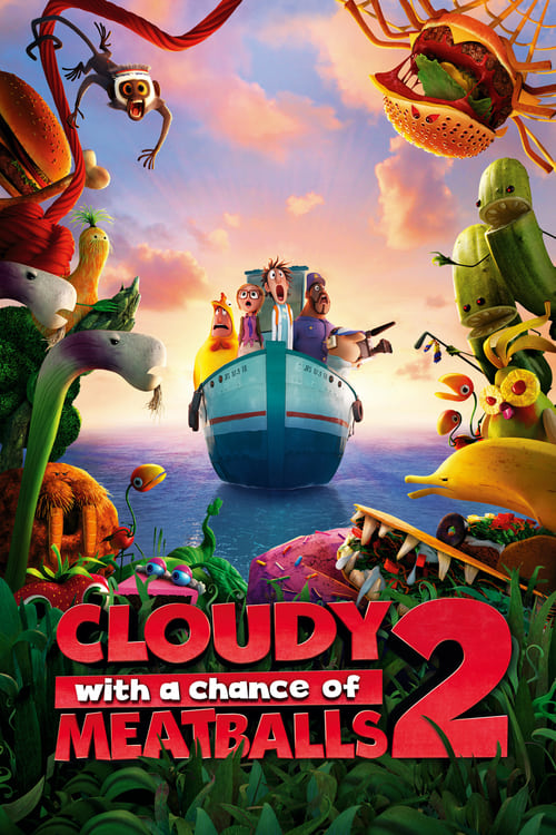دانلود انیمیشنCloudy with a Chance of Meatballs 2 2013 با دوبله فارسی