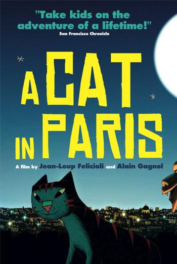 دانلود انیمیشن 2010 A Cat in Paris با دوبله فارسی