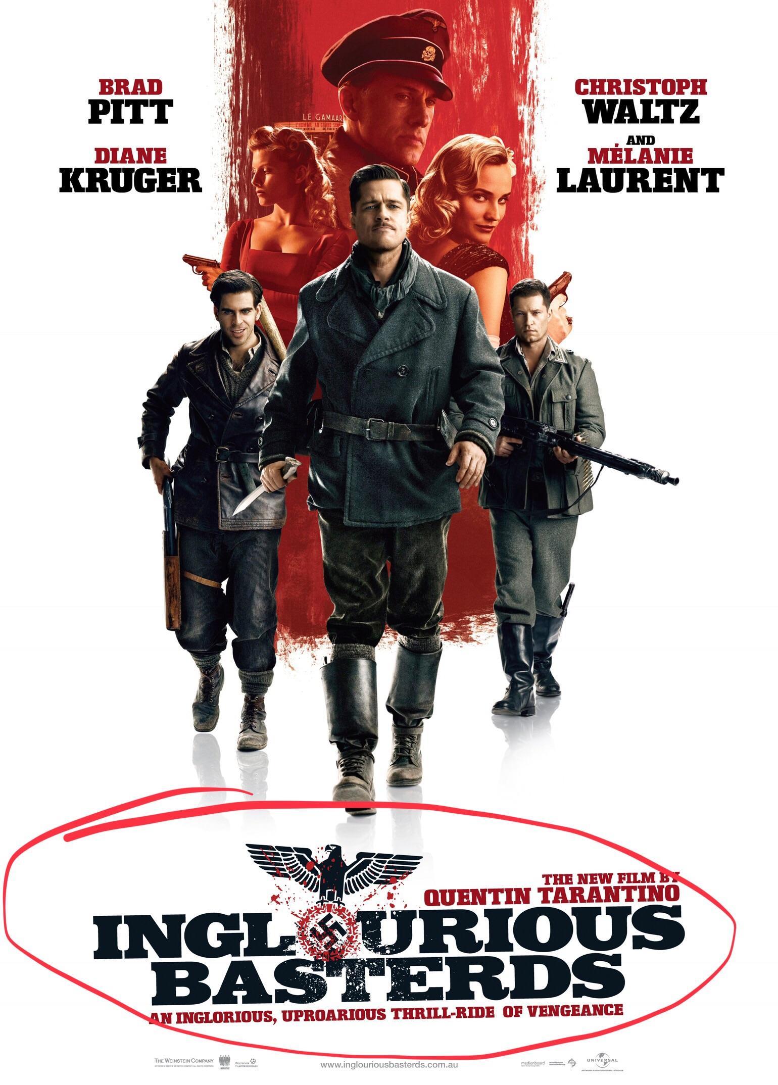 دانلود فیلم Inglourious Basterds 2009 با دوبله فارسی